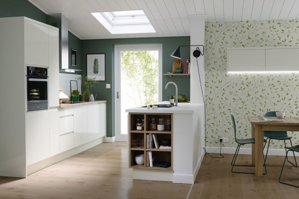 Contemporary kitchen extension with large rooflight
