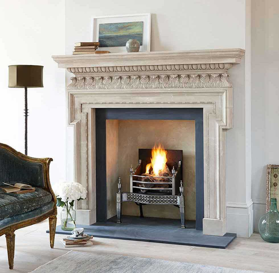 Chesney's Chichester Limestone fire surround