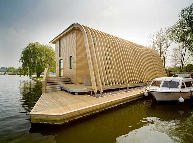 Accoya-clad riverside self build