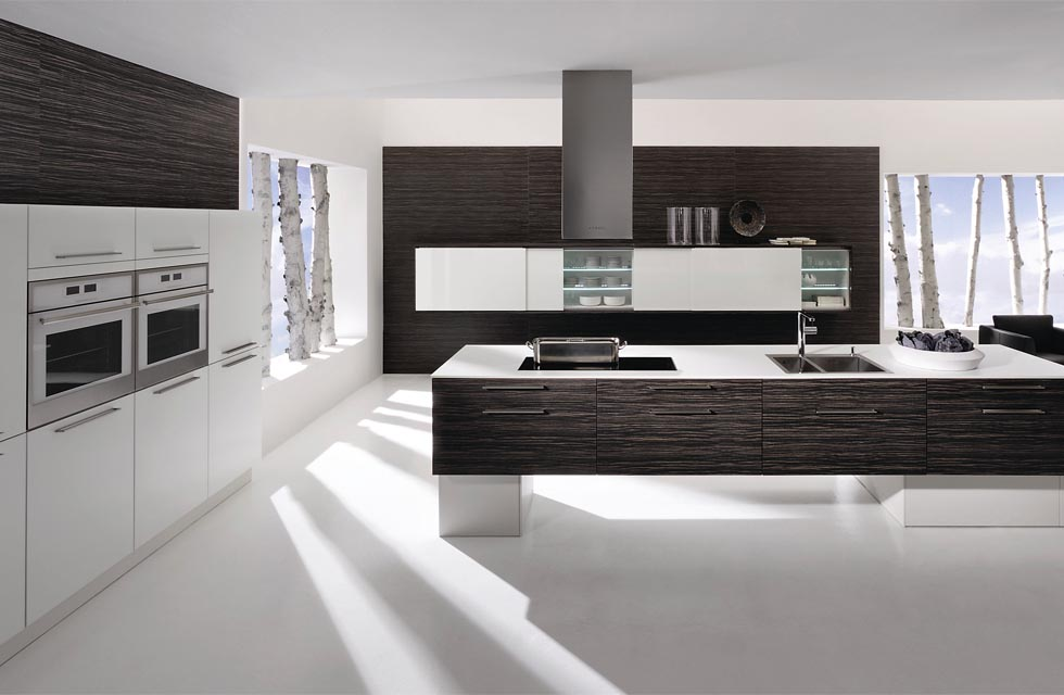 The Verso kitchen in black and white Zingana from Rational costs from £8,000