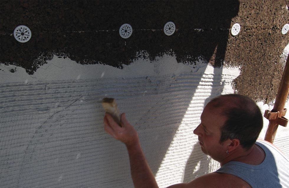 External Wall Insulation Using Cork
