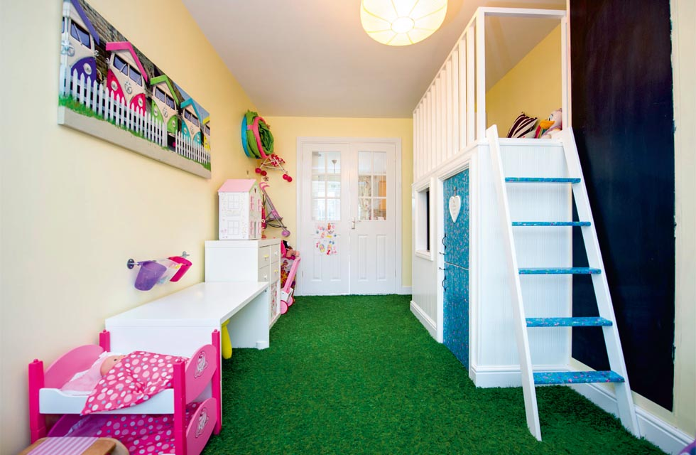 This Conversion, By Garage Conversion Specialists, Provides A Playroom For  The Ownersu0027 Daughters. As It Was A Double Garage, A Dividing Fire Wall Was  Built ...