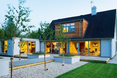 A ground floor extension and loft conversion have transformed this house into a modern home