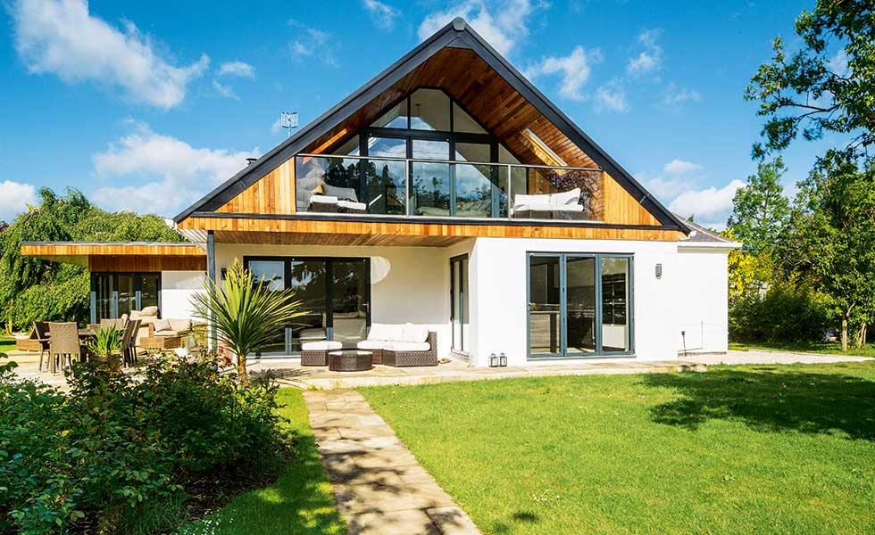 A bungalow in Worcestershire has been transformed into a chalet-style home