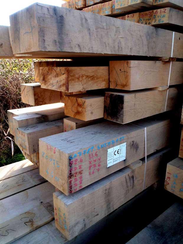 Oak frame timbers