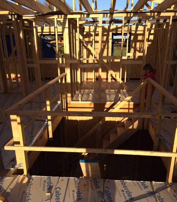 The first floor frame
