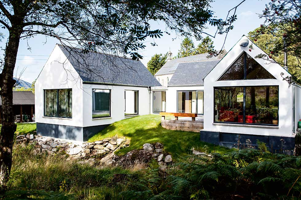 A self built home in the Scottish Highlands
