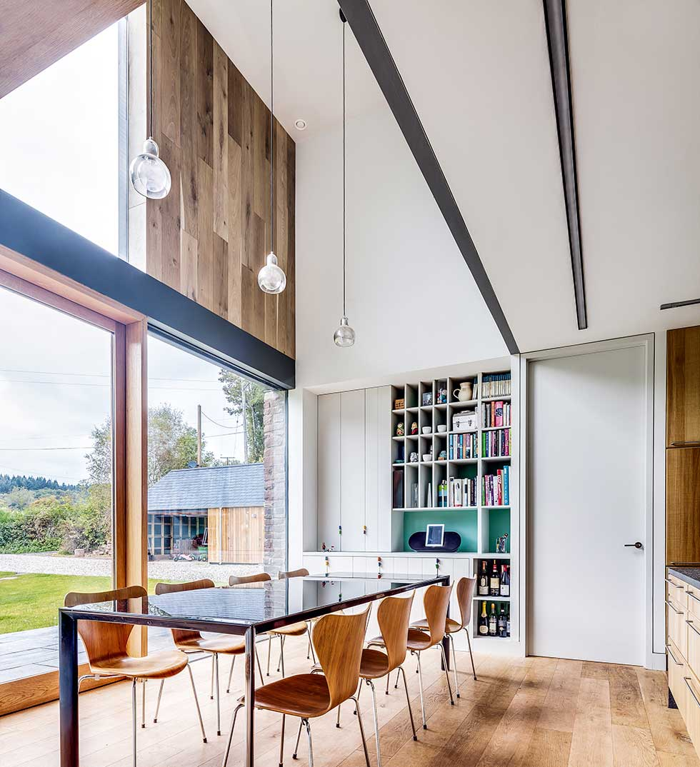Timber cladding in a contemporary home designed by hall bednarczyk architects