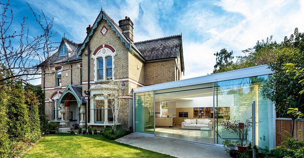 Glazed extension on a Victorian home by Coffey Architects