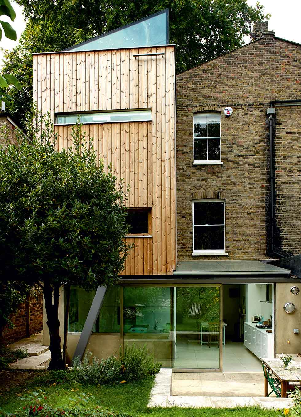 Multi-storey timber extension by 51% Studios