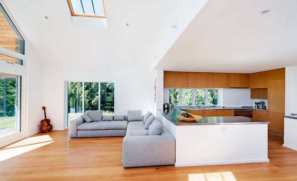 Open-plan family living area
