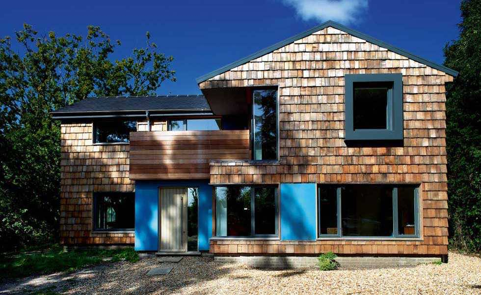 A remodelled cedar-clad home with triple glazing