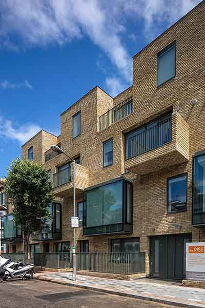 group self build of a block of luxury flats in London
