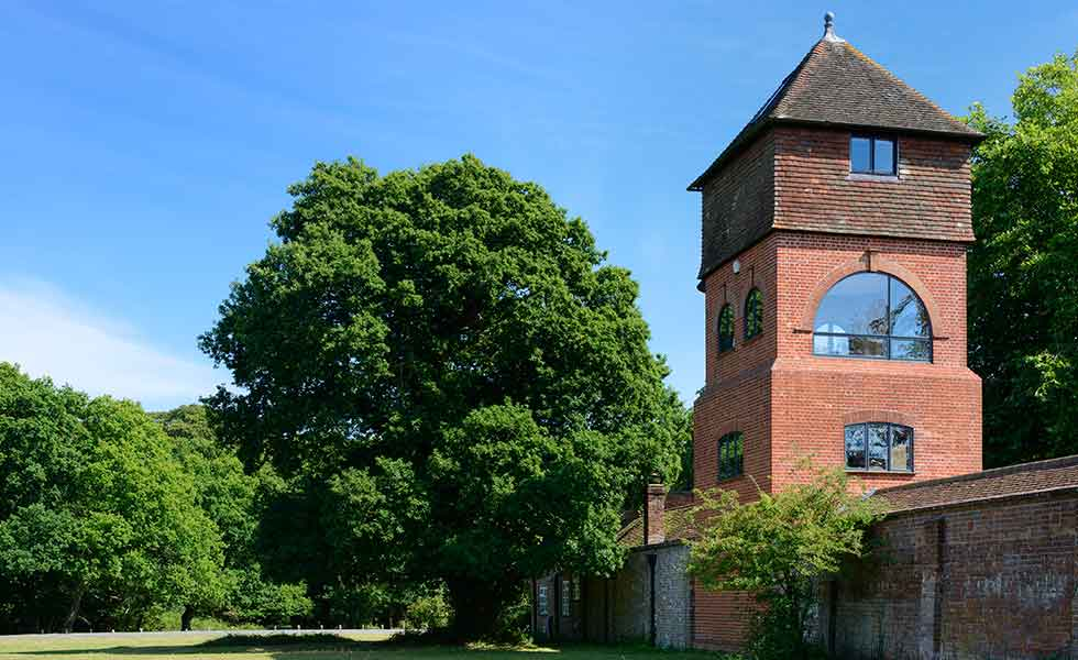 renovation of a converted four storey water tower in the New Forest
