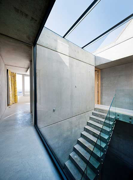 Concrete staircase by Adrian James