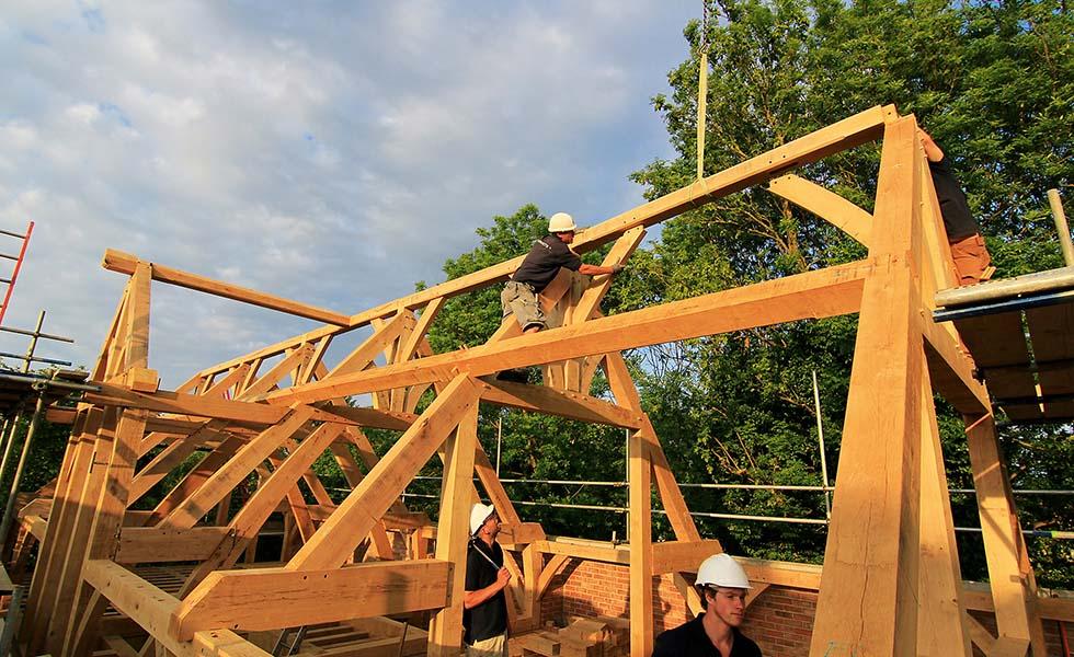 Oak frame construction