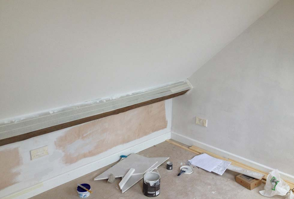 Painting the loft bedroom walls