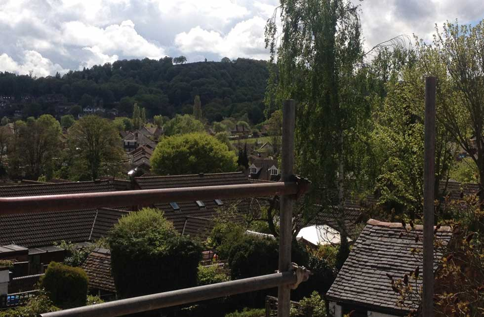 New view of Kinver Edge from loft rooflight