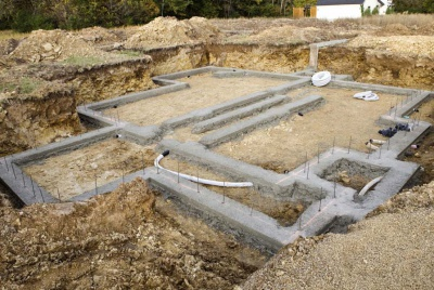 Poured concrete foundations