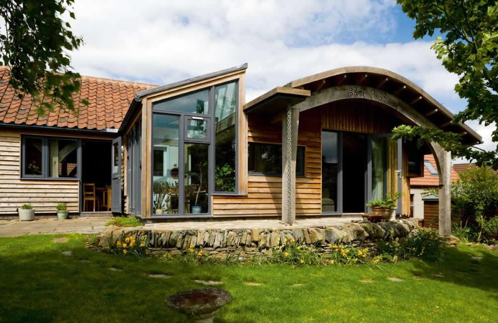 wood clad eco cottage