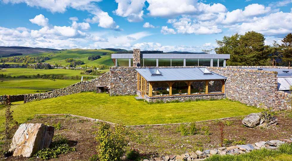 sustainable exterior farm house