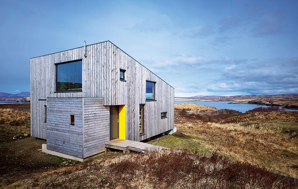 eco house scotland exterior field
