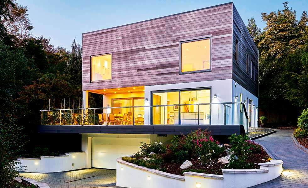 kit home timber frame exterior