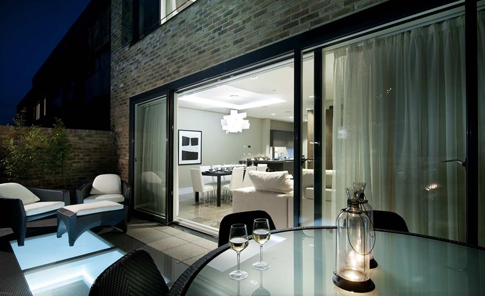 Using glass rooflights for light and space