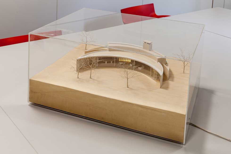 Scale model of Crescent House by Ken Shuttleworth