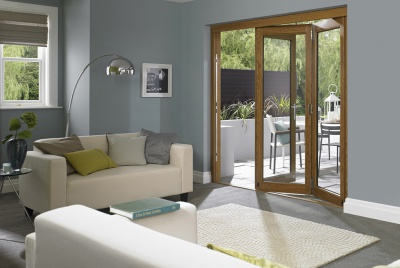 Elite Oak Door Open