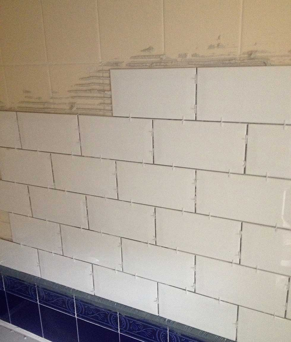 Tiling the bathroom