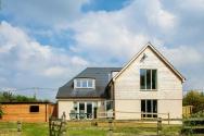 Rea elevation os a low carbon self build house