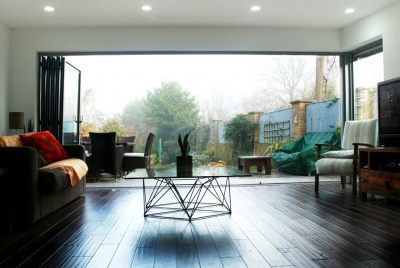 Architect designed house extension Brockley Lewisham SE4 - View to the garden