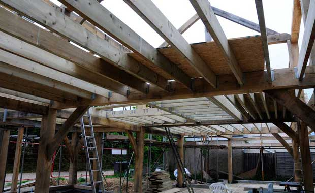 Installing the floor joists
