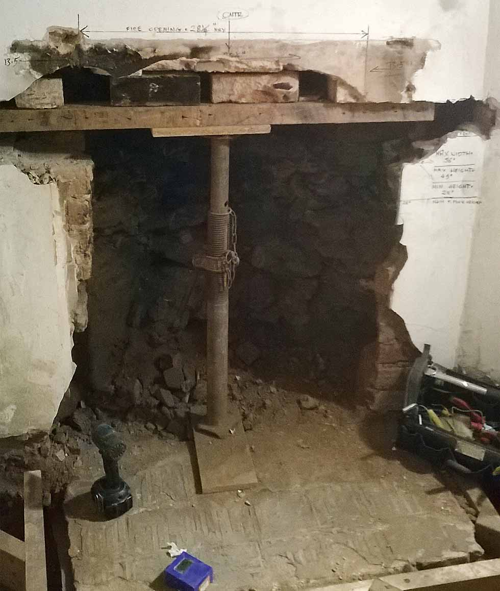 How to remove a chimney - Supporting The Opening Where A Fireplace Used To Be