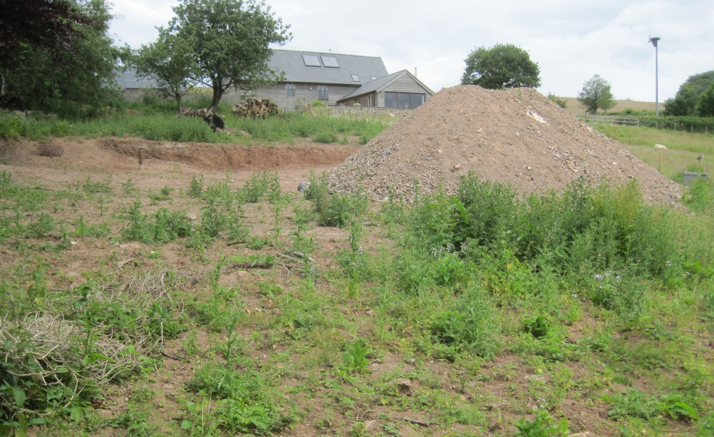 The plot of land where Castle Ring oak frame house is to be built