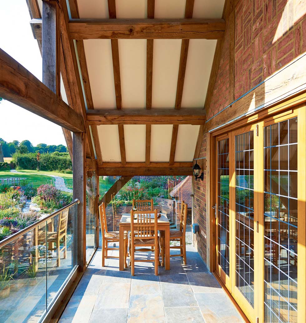 Oak frame balcony