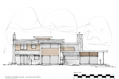 House plan of the contemporary home with planning permission