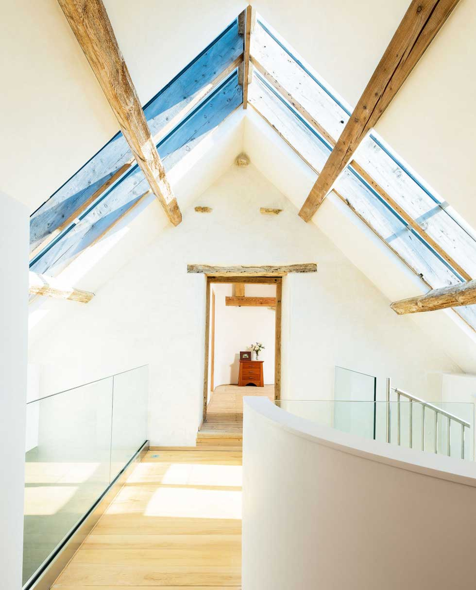 Barn conversion design with rooflights