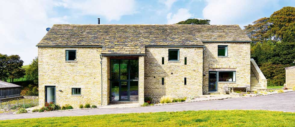 Exterior of a barn conversion