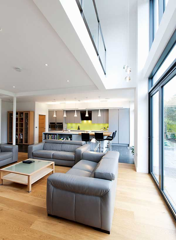 Large areas of glazing offer great views from the living areas
