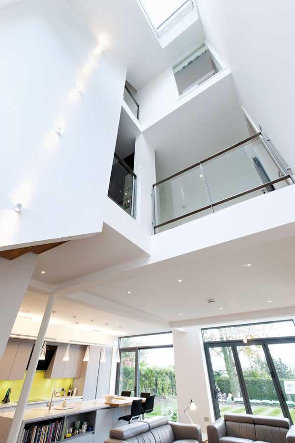 Triple-height space creates an internal atrium