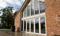 kloeber timber fixed double height glazing