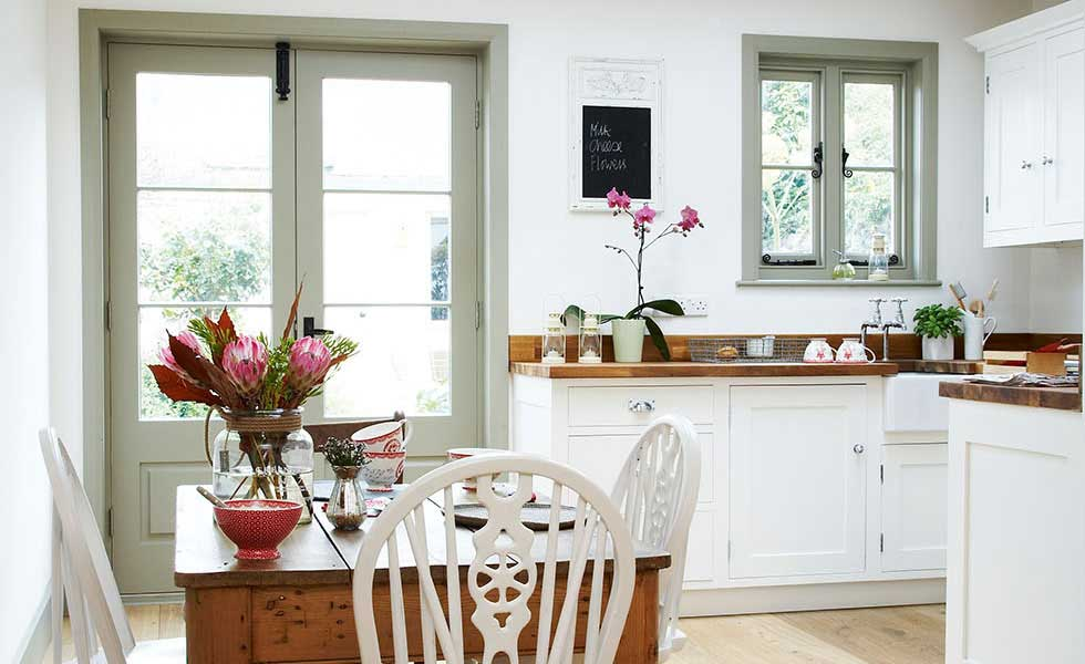 Kitchen Diner With French Doors