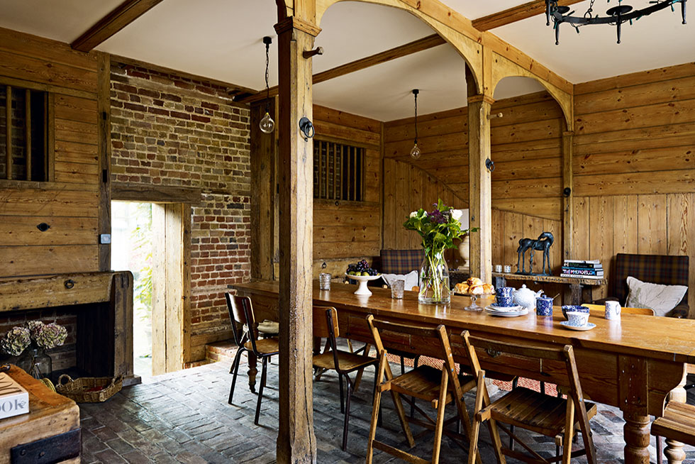 Dining room in a converted coach house