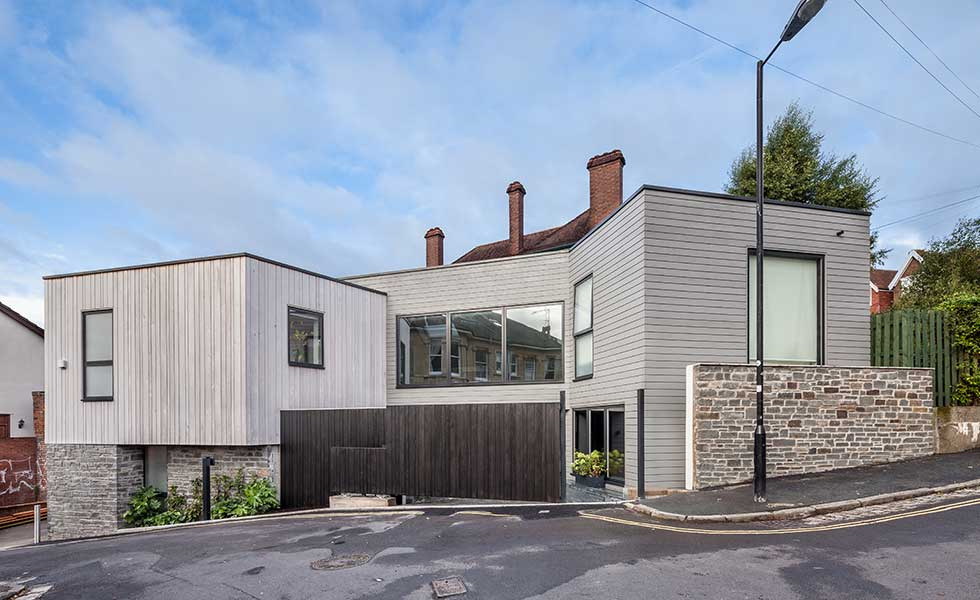 city self build on a garage plot in Bristol
