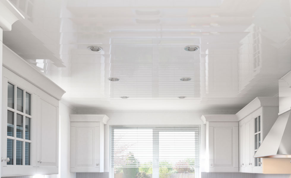 multipanel panelling ceiling white bathroom ceiling