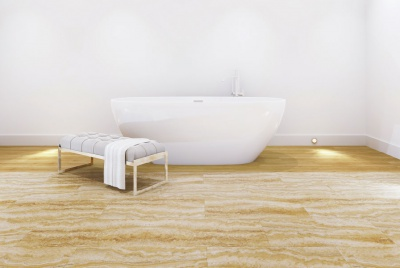 Multipanel flooring click wood effect bath