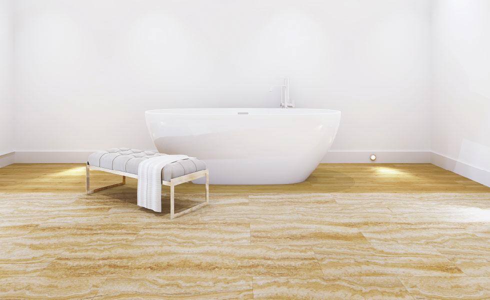 Multipanel flooring click wood effect bath