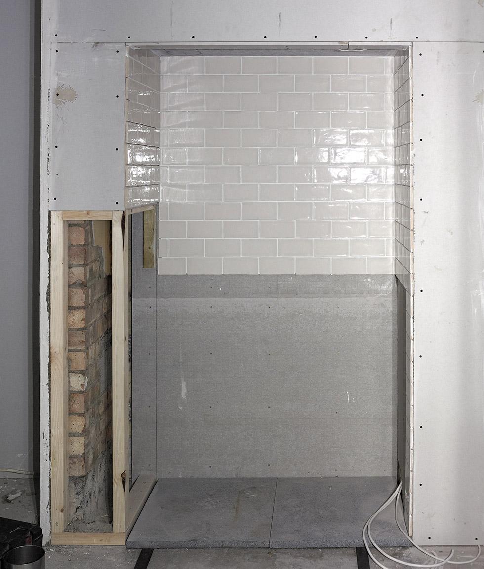 splashback for range cooker and heat proof section